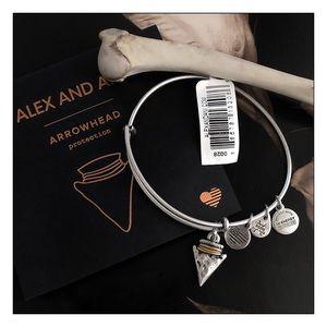 Alex And Ani Silver Arrowhead Charm Bracelet